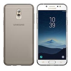Etui Ultra Fine TPU Souple Transparente T03 pour Samsung Galaxy J7 Plus Gris