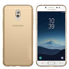 Etui Ultra Fine TPU Souple Transparente T03 pour Samsung Galaxy J7 Plus Or