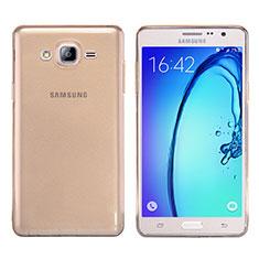 Etui Ultra Fine TPU Souple Transparente T03 pour Samsung Galaxy On7 Pro Or