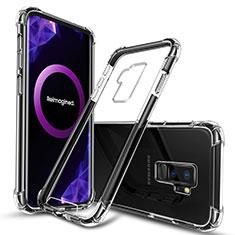 Etui Ultra Fine TPU Souple Transparente T03 pour Samsung Galaxy S9 Plus Noir