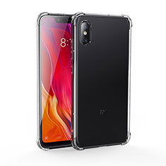 Etui Ultra Fine TPU Souple Transparente T04 pour Xiaomi Mi 8 Screen Fingerprint Edition Noir