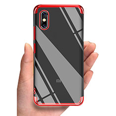 Etui Ultra Fine TPU Souple Transparente T05 pour Xiaomi Mi 8 Screen Fingerprint Edition Rouge