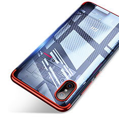 Etui Ultra Fine TPU Souple Transparente T06 pour Xiaomi Mi 8 Screen Fingerprint Edition Rouge