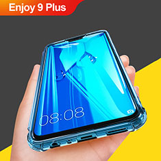 Etui Ultra Fine TPU Souple Transparente T07 pour Huawei Enjoy 9 Plus Bleu Ciel