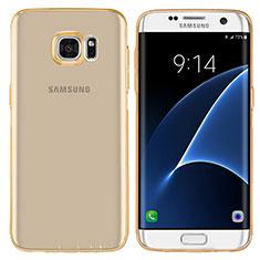 Etui Ultra Fine TPU Souple Transparente T07 pour Samsung Galaxy S7 Edge G935F Or