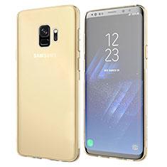 Etui Ultra Fine TPU Souple Transparente T07 pour Samsung Galaxy S9 Or