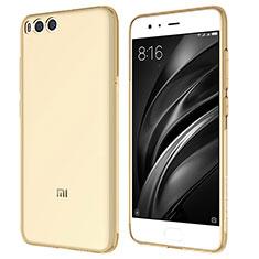 Etui Ultra Fine TPU Souple Transparente T07 pour Xiaomi Mi 6 Or