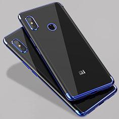 Etui Ultra Fine TPU Souple Transparente T07 pour Xiaomi Mi 6X Bleu