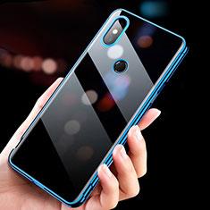 Etui Ultra Fine TPU Souple Transparente T11 pour Xiaomi Mi Mix 3 Bleu