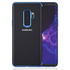 Etui Ultra Fine TPU Souple Transparente T16 pour Samsung Galaxy S9 Plus Bleu