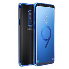 Etui Ultra Fine TPU Souple Transparente T18 pour Samsung Galaxy S9 Plus Bleu