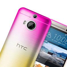 Etui Ultra Fine Transparente Souple Degrade pour HTC One M9 Plus Rose