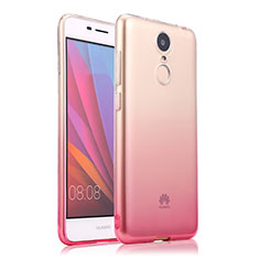 Etui Ultra Fine Transparente Souple Degrade pour Huawei Enjoy 6 Rose