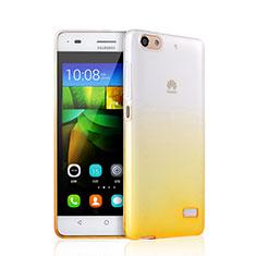 Etui Ultra Fine Transparente Souple Degrade pour Huawei G Play Mini Jaune