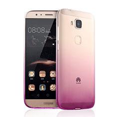 Etui Ultra Fine Transparente Souple Degrade pour Huawei G8 Rose