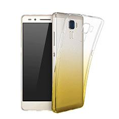 Etui Ultra Fine Transparente Souple Degrade pour Huawei GR5 Mini Jaune
