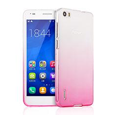 Etui Ultra Fine Transparente Souple Degrade pour Huawei Honor 6 Rose