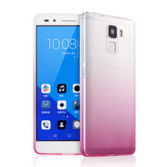 Etui Ultra Fine Transparente Souple Degrade pour Huawei Honor 7 Dual SIM Rose