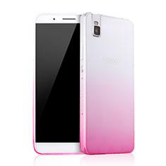 Etui Ultra Fine Transparente Souple Degrade pour Huawei Honor 7i shot X Rose