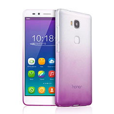 Etui Ultra Fine Transparente Souple Degrade pour Huawei Honor X5 Violet