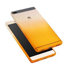 Etui Ultra Fine Transparente Souple Degrade pour Huawei P8 Jaune