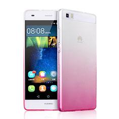 Etui Ultra Fine Transparente Souple Degrade pour Huawei P8 Lite Rose