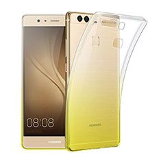Etui Ultra Fine Transparente Souple Degrade pour Huawei P9 Plus Jaune