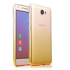 Etui Ultra Fine Transparente Souple Degrade pour Huawei Y5 II Y5 2 Jaune
