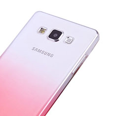 Etui Ultra Fine Transparente Souple Degrade pour Samsung Galaxy A5 SM-500F Rose