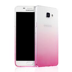 Etui Ultra Fine Transparente Souple Degrade pour Samsung Galaxy A7 (2016) A7100 Rose