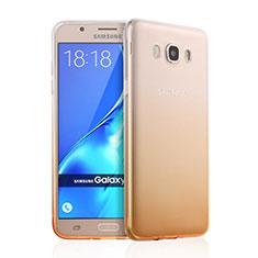 Etui Ultra Fine Transparente Souple Degrade pour Samsung Galaxy J7 (2016) J710F J710FN Jaune