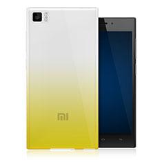 Etui Ultra Fine Transparente Souple Degrade pour Xiaomi Mi 3 Jaune