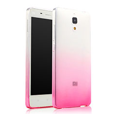 Etui Ultra Fine Transparente Souple Degrade pour Xiaomi Mi 4 LTE Rose