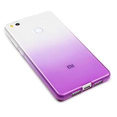 Etui Ultra Fine Transparente Souple Degrade pour Xiaomi Mi 4S Violet