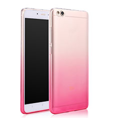 Etui Ultra Fine Transparente Souple Degrade pour Xiaomi Mi 5C Rose