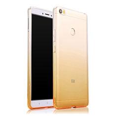 Etui Ultra Fine Transparente Souple Degrade pour Xiaomi Mi Max Jaune