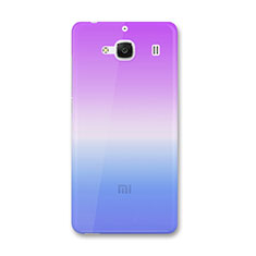 Etui Ultra Fine Transparente Souple Degrade pour Xiaomi Redmi 2 Bleu