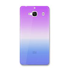 Etui Ultra Fine Transparente Souple Degrade pour Xiaomi Redmi 2A Bleu