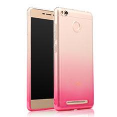 Etui Ultra Fine Transparente Souple Degrade pour Xiaomi Redmi 3 High Edition Rose