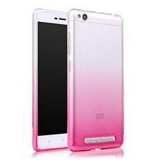 Etui Ultra Fine Transparente Souple Degrade pour Xiaomi Redmi 3 Rose