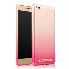 Etui Ultra Fine Transparente Souple Degrade pour Xiaomi Redmi 3S Prime Rose