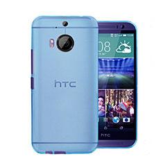 Etui Ultra Slim Plastique Rigide Transparente pour HTC One M9 Plus Bleu
