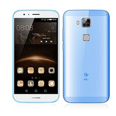 Etui Ultra Slim Plastique Rigide Transparente pour Huawei G7 Plus Bleu