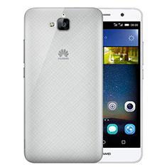Etui Ultra Slim Plastique Rigide Transparente pour Huawei Y6 Pro Gris