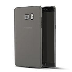 Etui Ultra Slim Plastique Rigide Transparente pour Samsung Galaxy Note 7 Noir