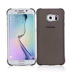 Etui Ultra Slim Plastique Rigide Transparente pour Samsung Galaxy S6 Edge SM-G925 Gris