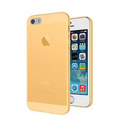 Etui Ultra Slim Silicone Mat Transparente pour Apple iPhone 5S Or