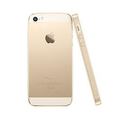 Etui Ultra Slim Silicone Souple Transparente pour Apple iPhone SE Or