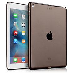 Etui Ultra Slim Silicone Souple Transparente pour Apple New iPad 9.7 (2018) Gris