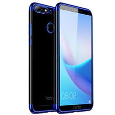 Etui Ultra Slim Silicone Souple Transparente pour Huawei Y6 (2018) Bleu